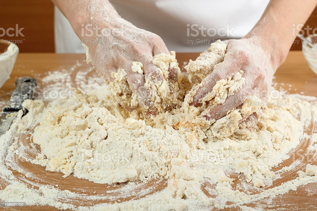 Making Pastry Dough for Hungarian Cake. Series. royalty-free stock photo