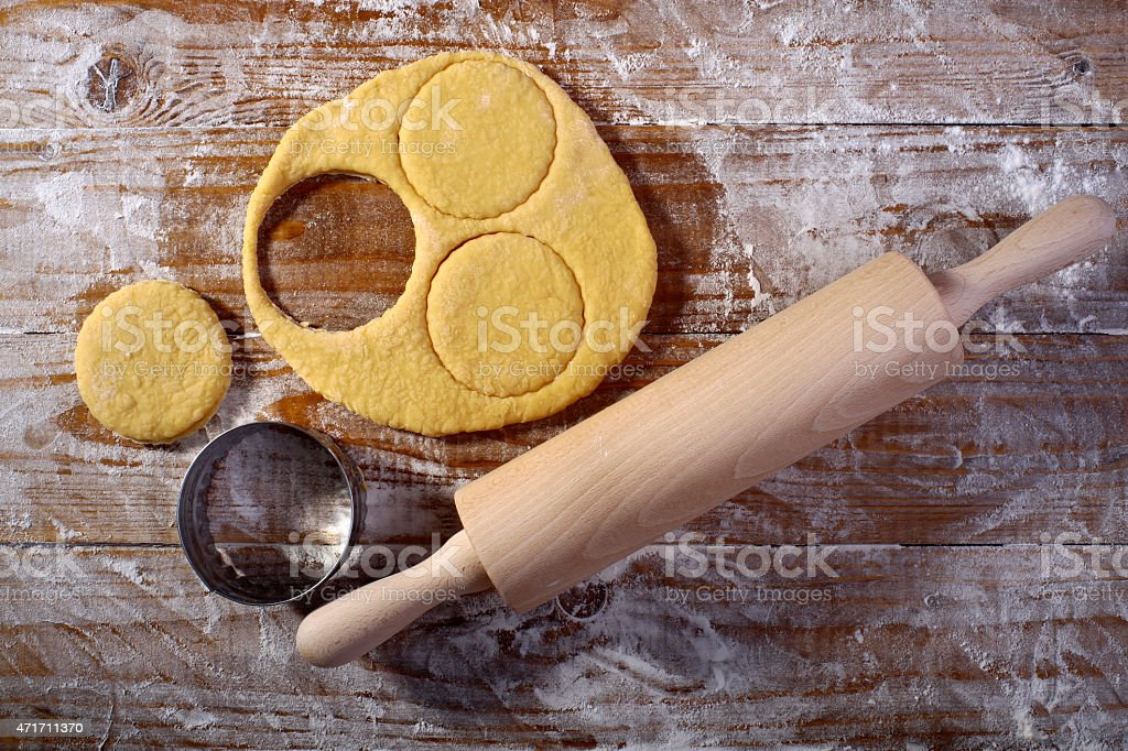Making pastry stock photo