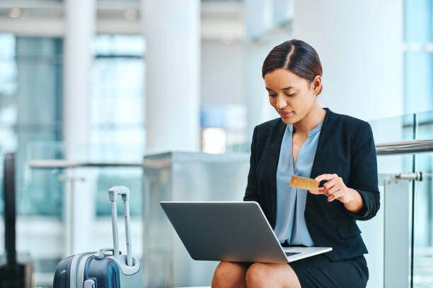 Making payments on the fly stock photo