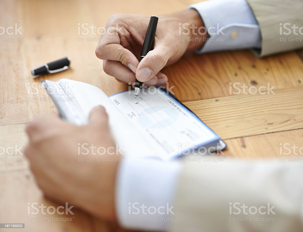Making payments stock photo