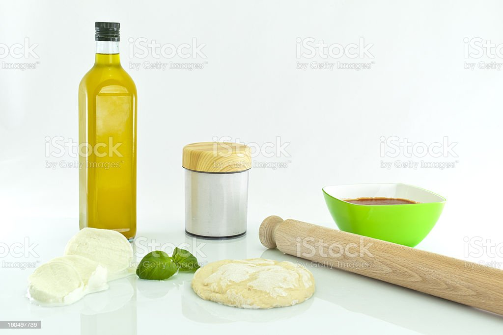 Making Pizza royalty-free stock photo