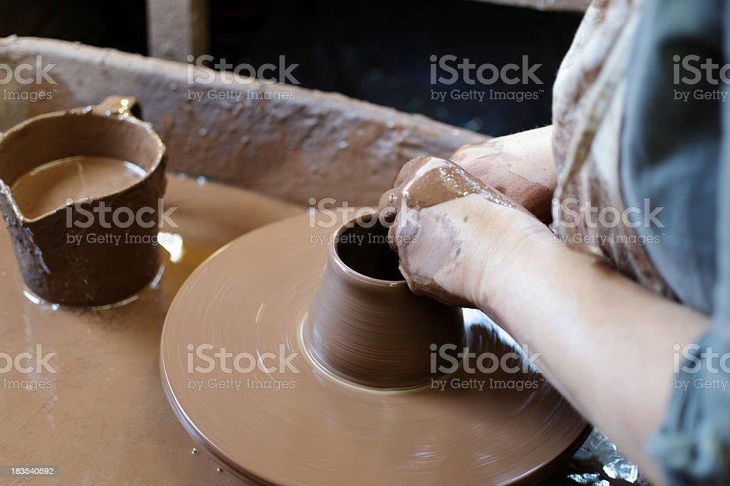 Making pottery royalty-free stock photo