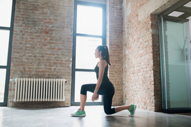 making progress every day - lunge stock photos and pictures