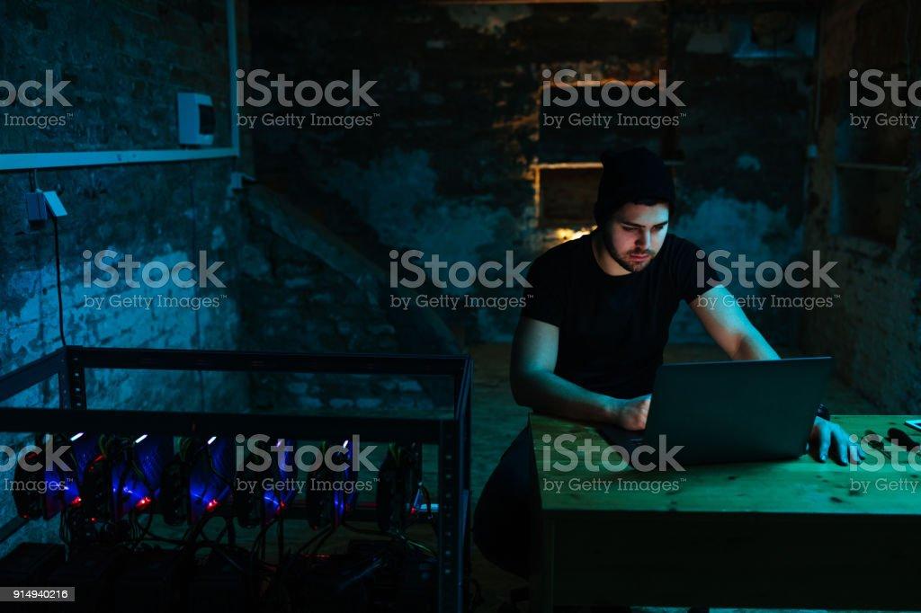 Making progress on the setup stock photo