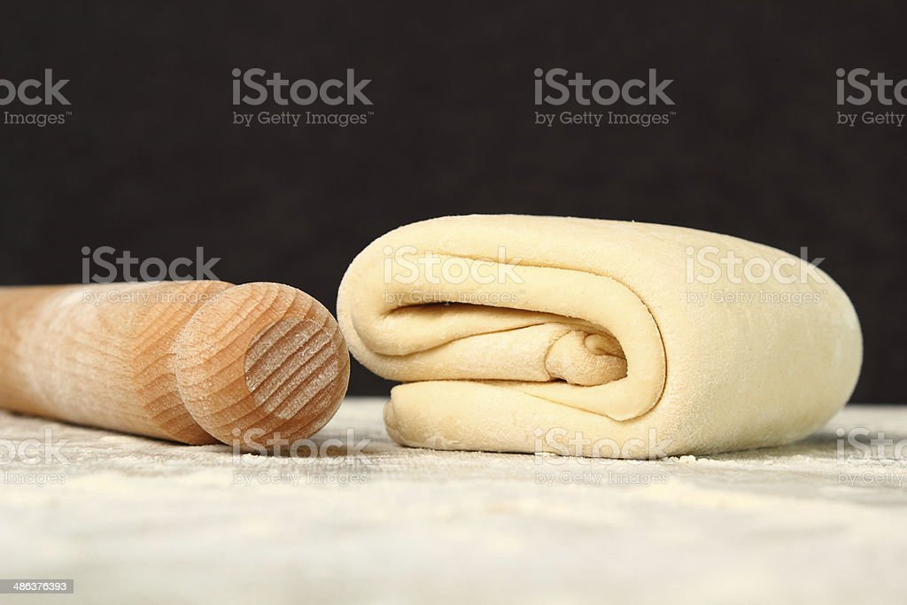 Making Puff Pastry Making Puff Pastry. Dough ready before chilling. Baked Pastry Item Stock Photo