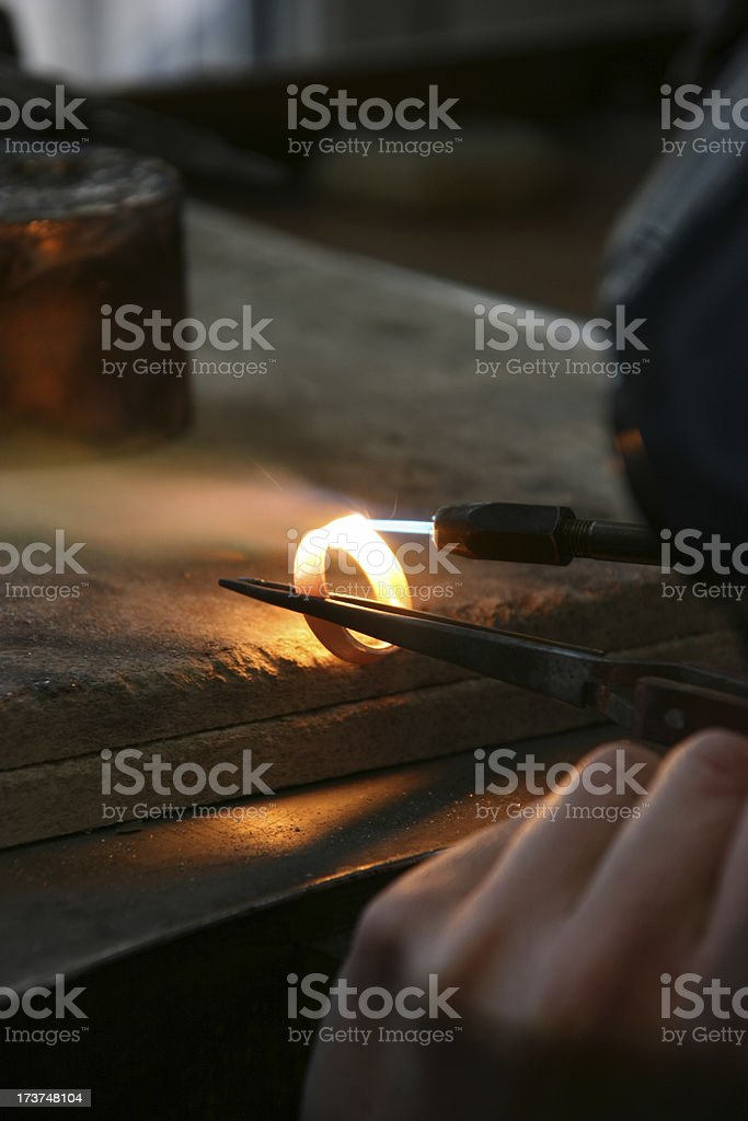 making ring royalty-free stock photo