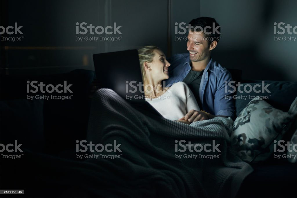 Making romance part of their nightly routine stock photo
