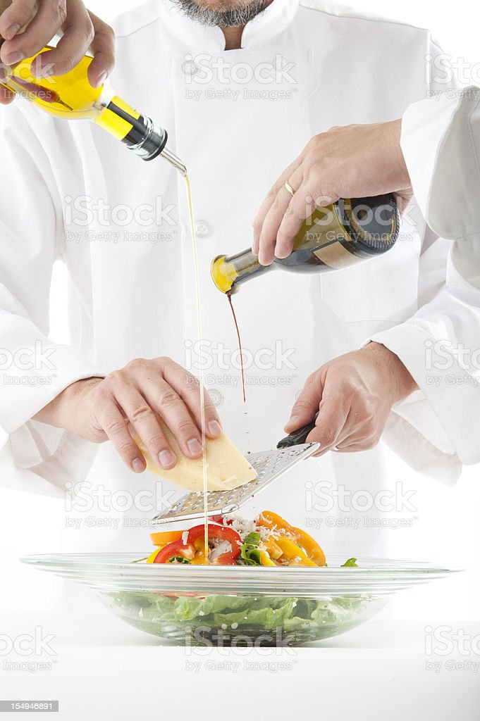Making Salad royalty-free stock photo