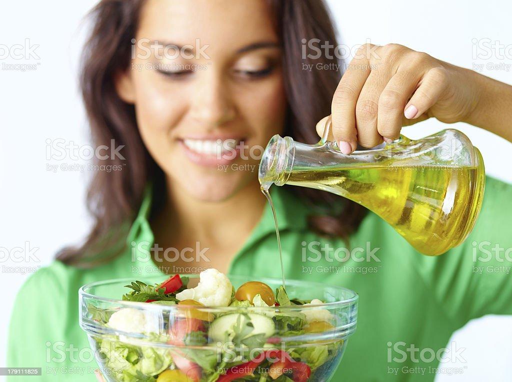 La ensalada - Foto de stock de Aceite para cocinar libre de derechos