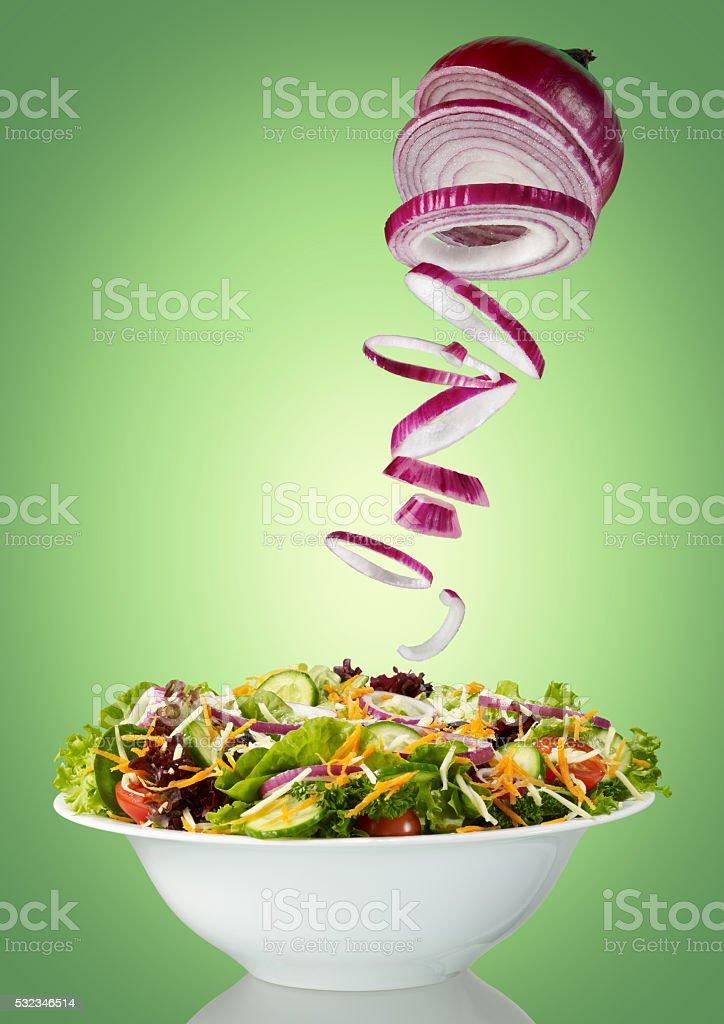 Making salad stock photo