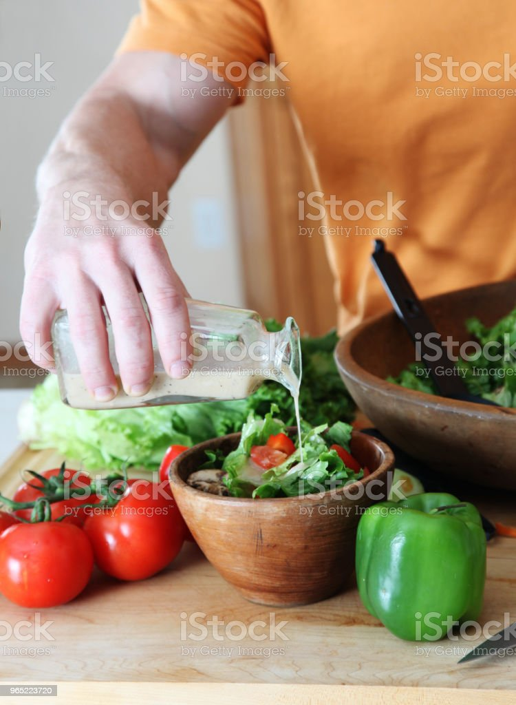Making salad royalty-free stock photo