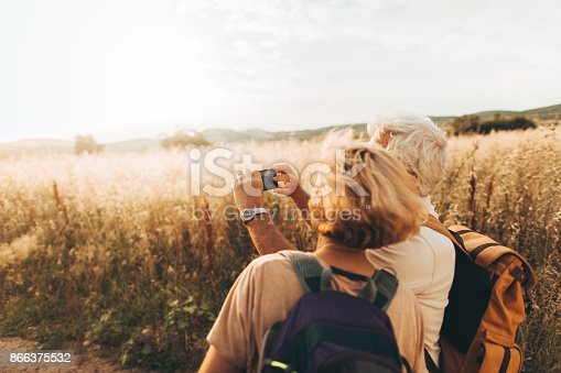 846276038istockphoto Making selfie during our hiking trip 866375532