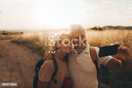 846276038istockphoto Making selfie during our hiking trip 866375646