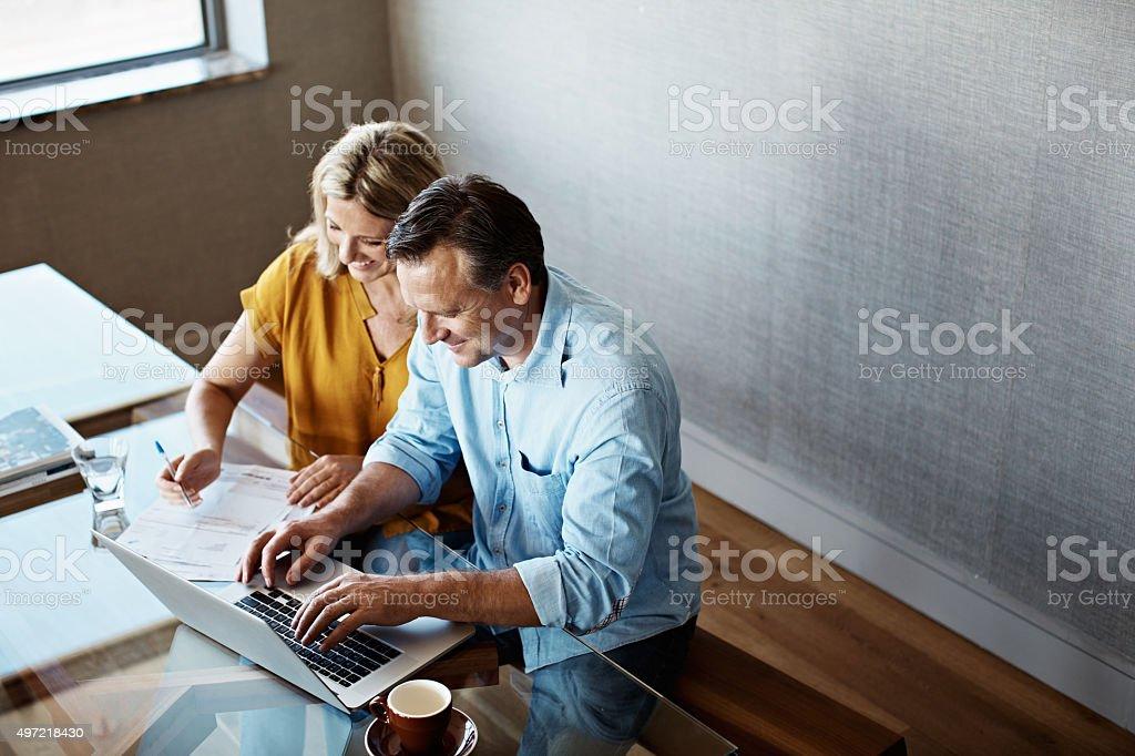 Making sense of the home finances stock photo
