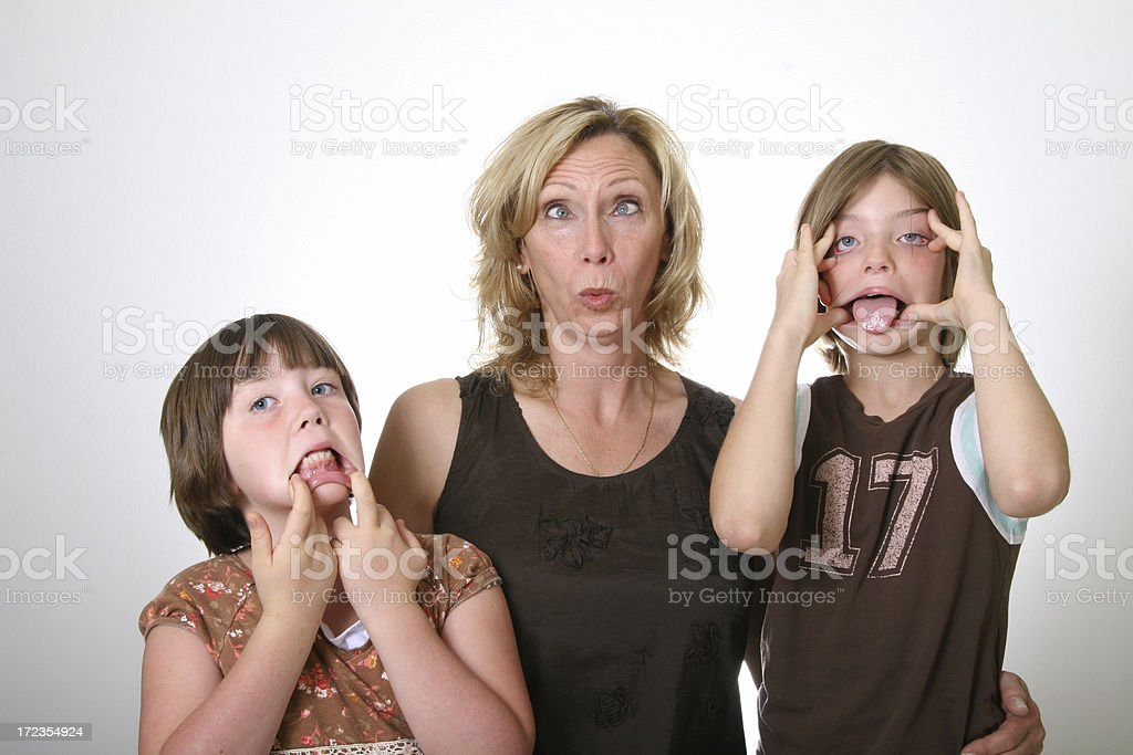 Making Silly Faces with Grandma royalty-free stock photo