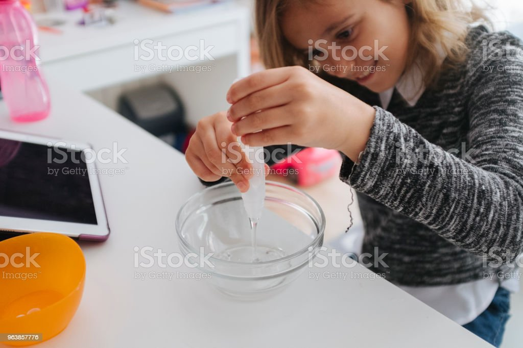 Making Slime - Royalty-free 8-9 Years Stock Photo