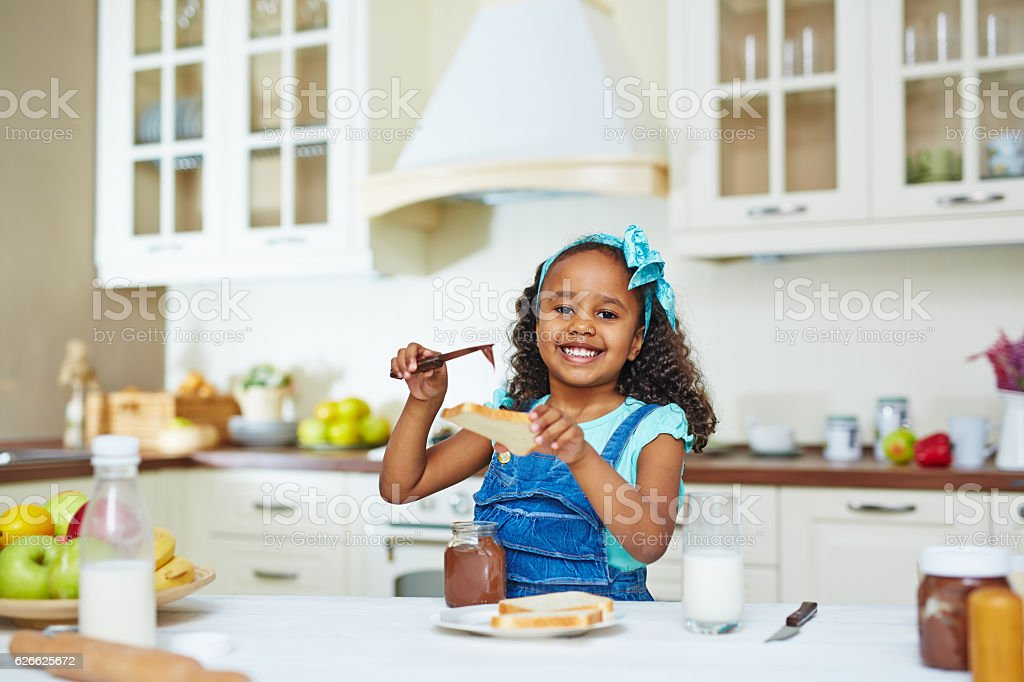 Making snack stock photo