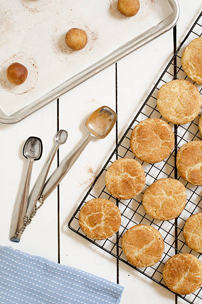 Making Snickerdoodles from Above stock photo