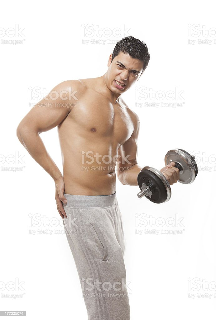 making sport with pain royalty-free stock photo
