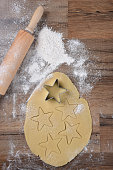 istock Making Star Shaped Holiday Cookies 1283253625