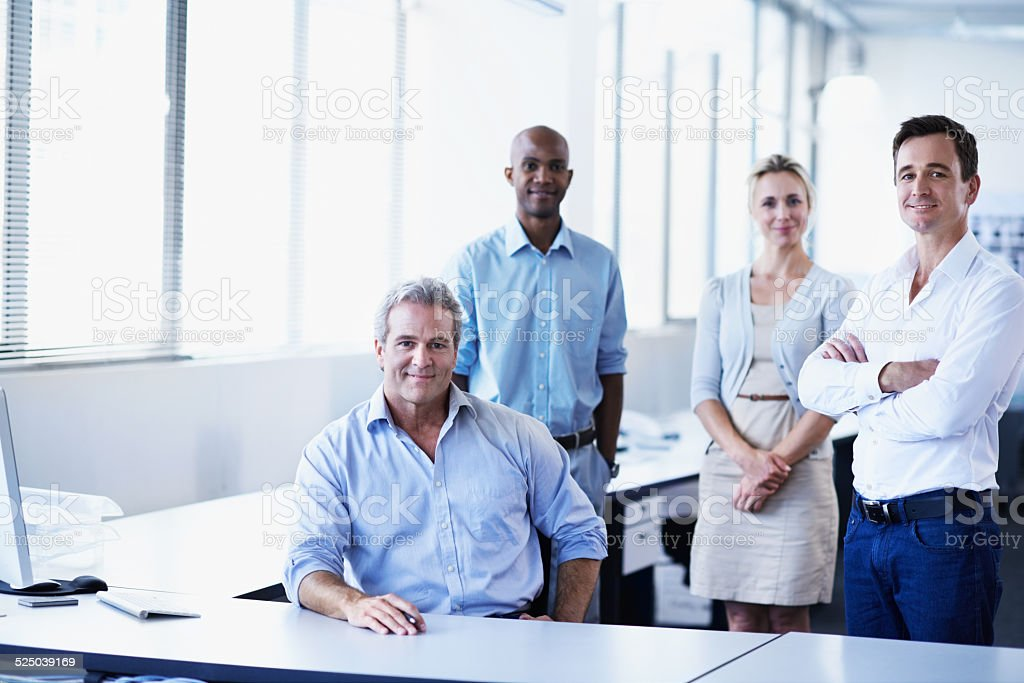 Making success as a team stock photo