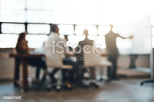 Shot of businesspeople having a meeting in an office