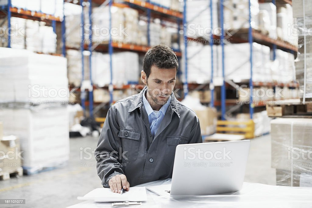Making sure all orders are sent to the right place stock photo