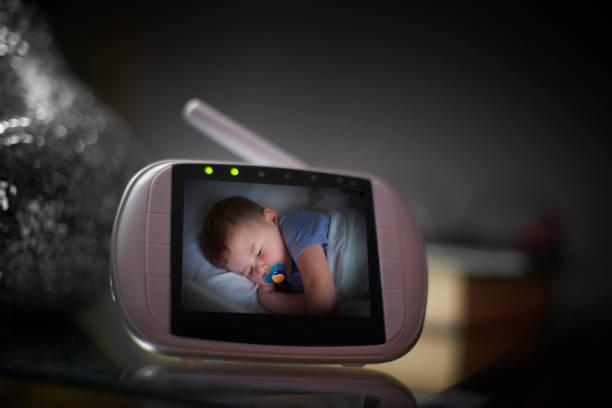 Making sure baby's ok stock photo