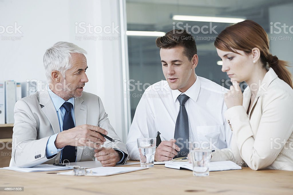 Making sure everyone is on the same page stock photo