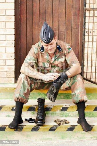 istock Making sure he leaves clear footsteps behind 505721689