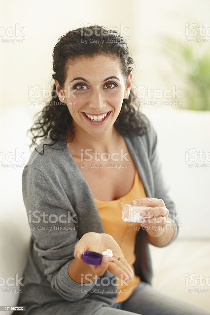 Making sure I get all the required vitamins and minerals royalty-free stock photo
