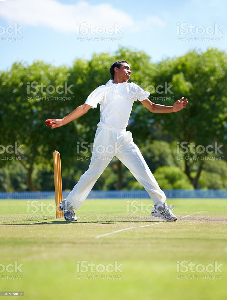Making sure not to overstep his line stock photo