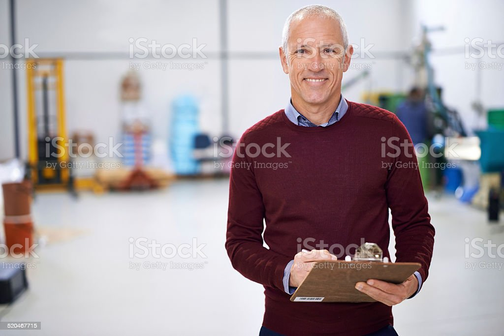 Making sure operations are running smoothly stock photo
