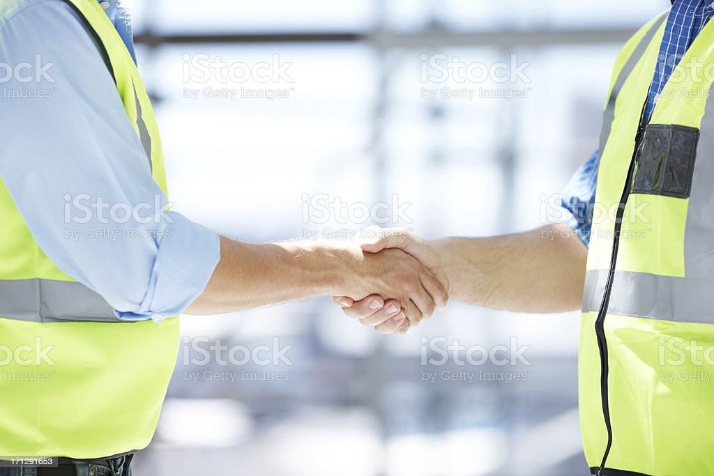 Making sure our partnership is on firm ground royalty-free stock photo
