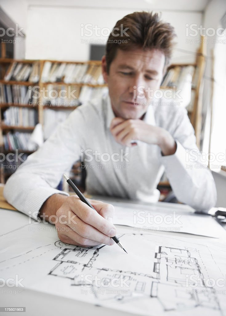 Making sure the details are perfect royalty-free stock photo