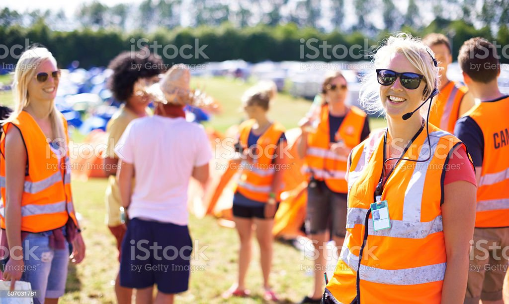 Making sure the event goes off without a hitch stock photo