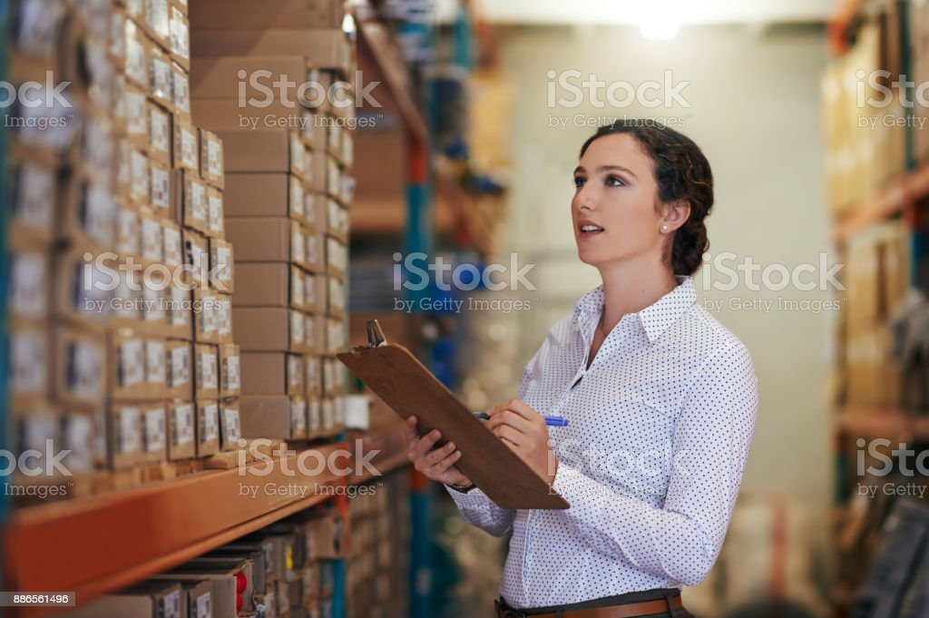 Making sure the order is perfect stock photo