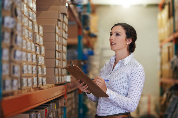 making sure the order is perfect - checklist stock photos and pictures