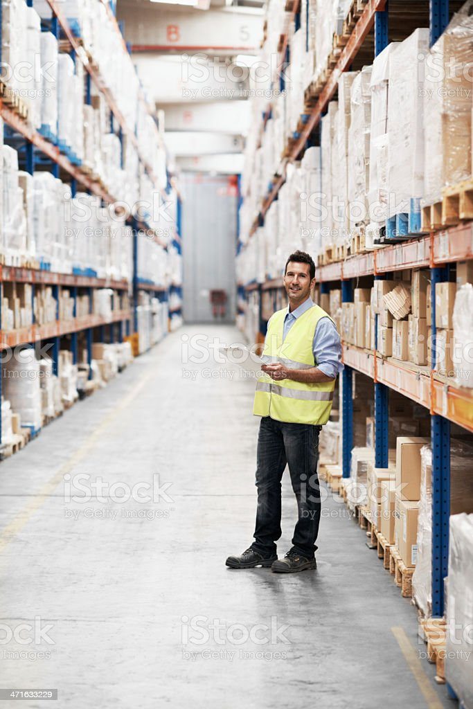 Making sure the warehouse is well-managed royalty-free stock photo
