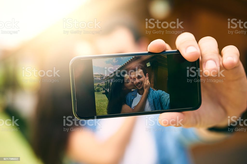 Making sure they never forget this moment stock photo