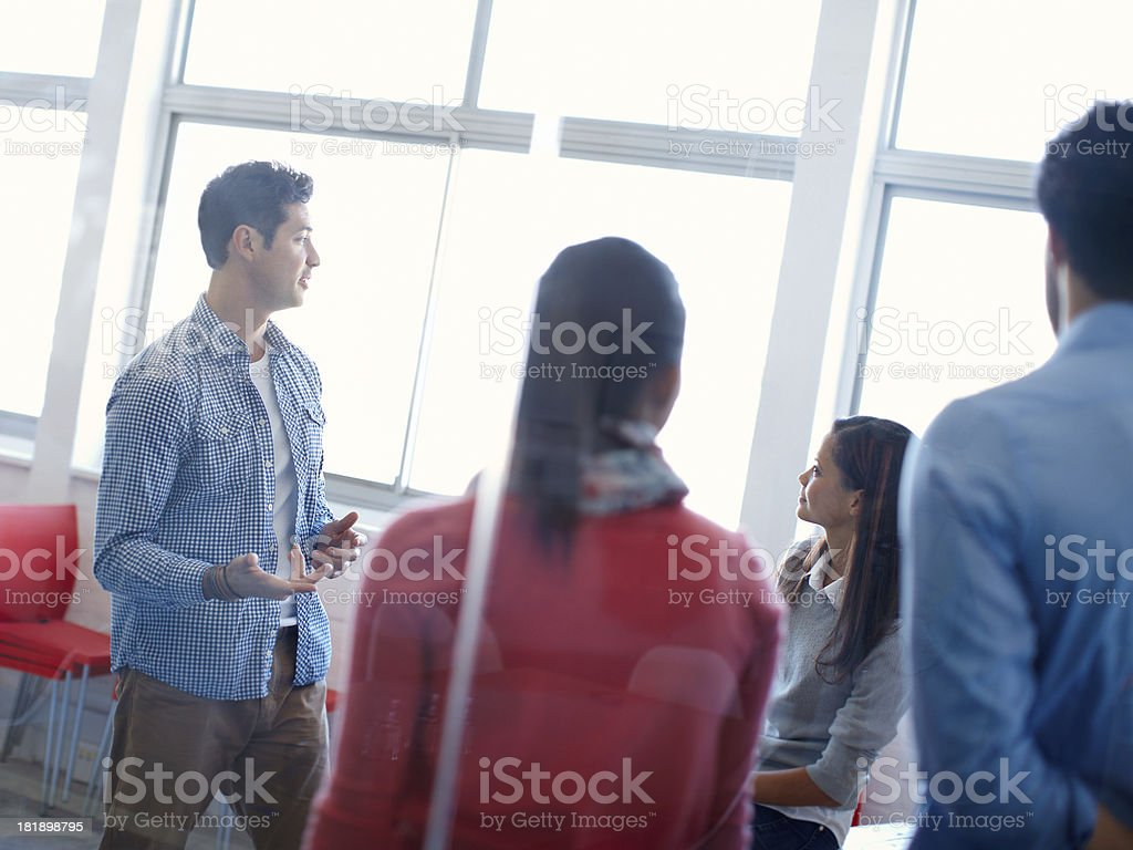 Making sure they understand royalty-free stock photo