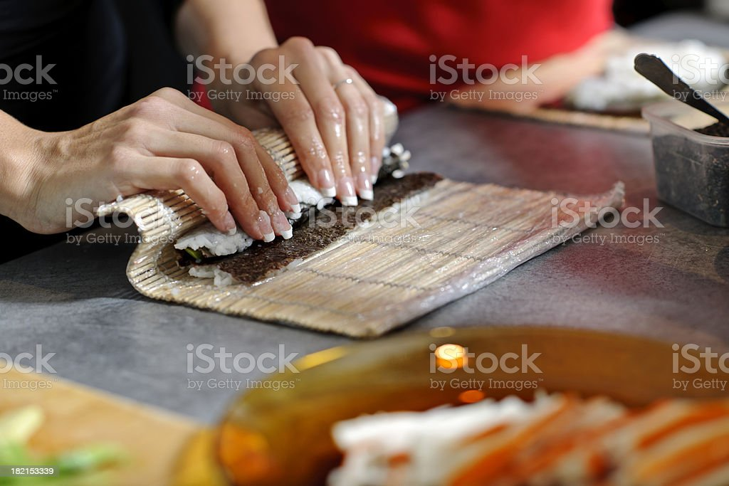 making sushi royalty-free stock photo