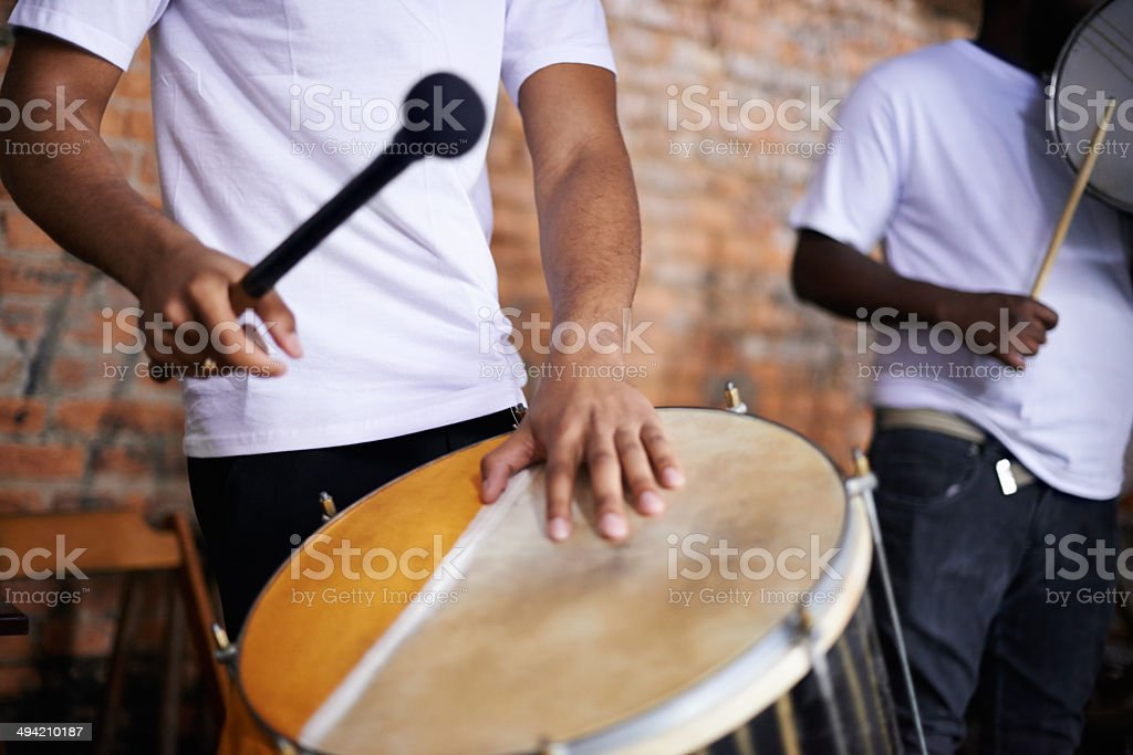 Making sweet music stock photo