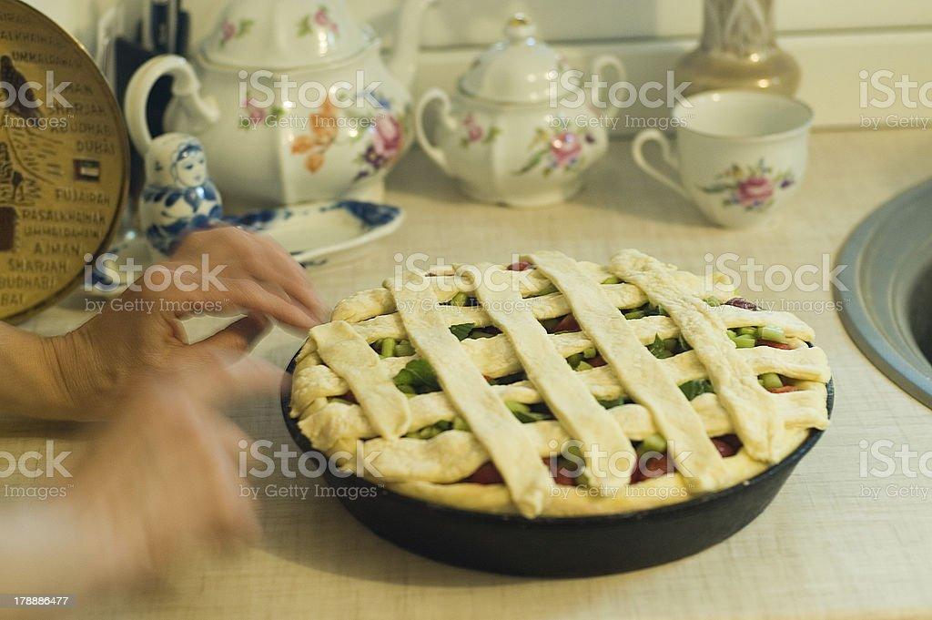 Making tart royalty-free stock photo