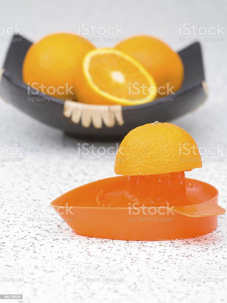 제조 맛있는 오렌지 주스 royalty-free 스톡 사진