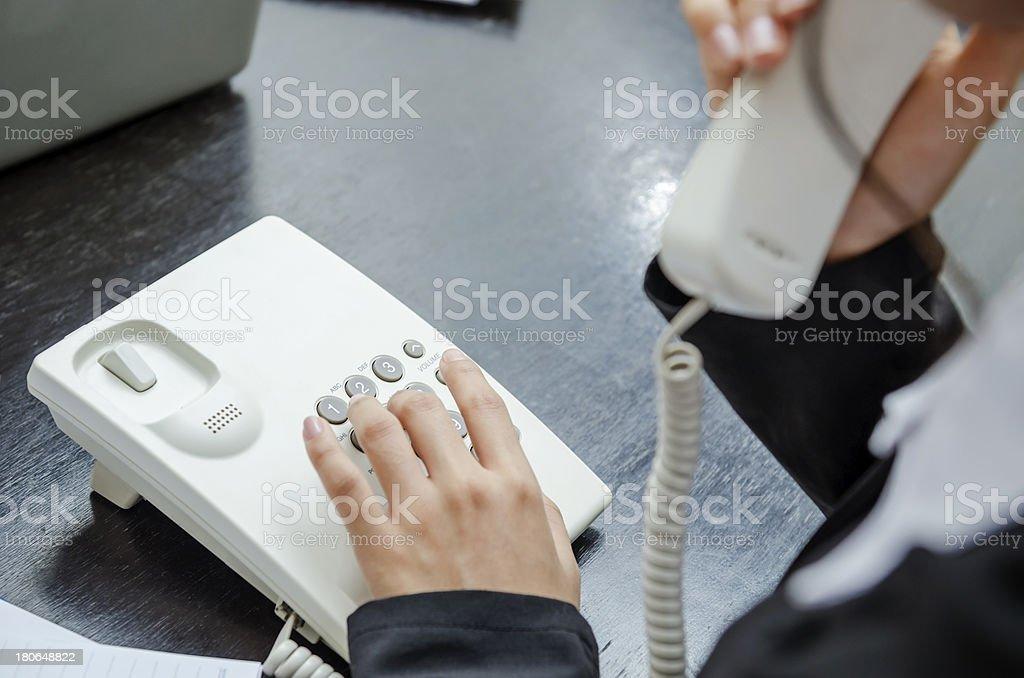 Making telephone call stock photo