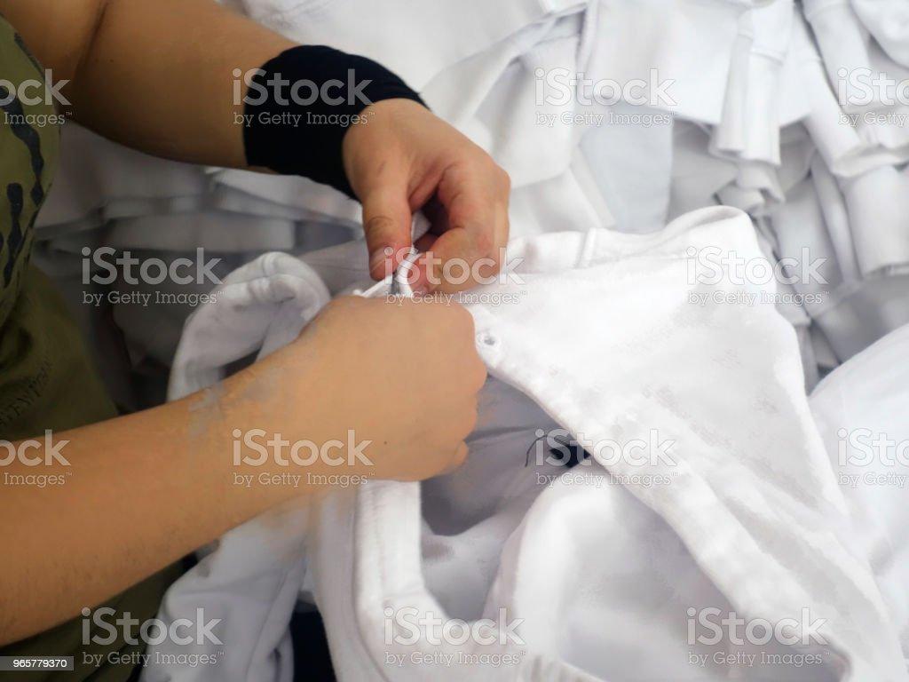 Textiel transactie T-Shirt - Royalty-free Fotografie Stockfoto