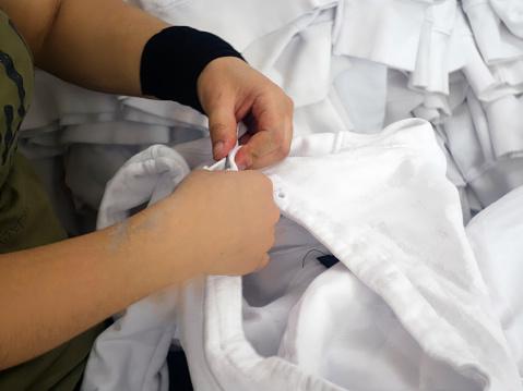 Textiel Transactie Tshirt Stockfoto en meer beelden van Fotografie