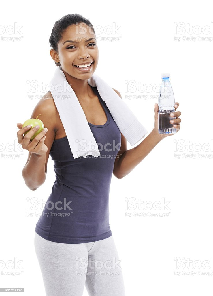 Making the healthy choices for herself royalty-free stock photo
