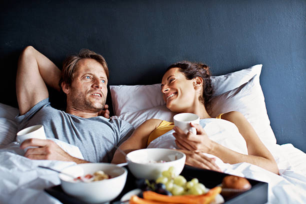 Making the most of their weekend time together stock photo